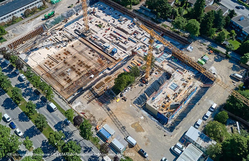28.06.2021 - neuperlach.org.gelbmann.org zeigt Luftbilder der Baustelle Grundschule am Karl-Marx-Ring