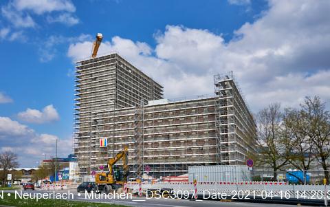 Baustelle Neuperlach Plaza, die NeueMitte