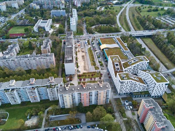 Baustelle Plettzentrum in Neuperlach
