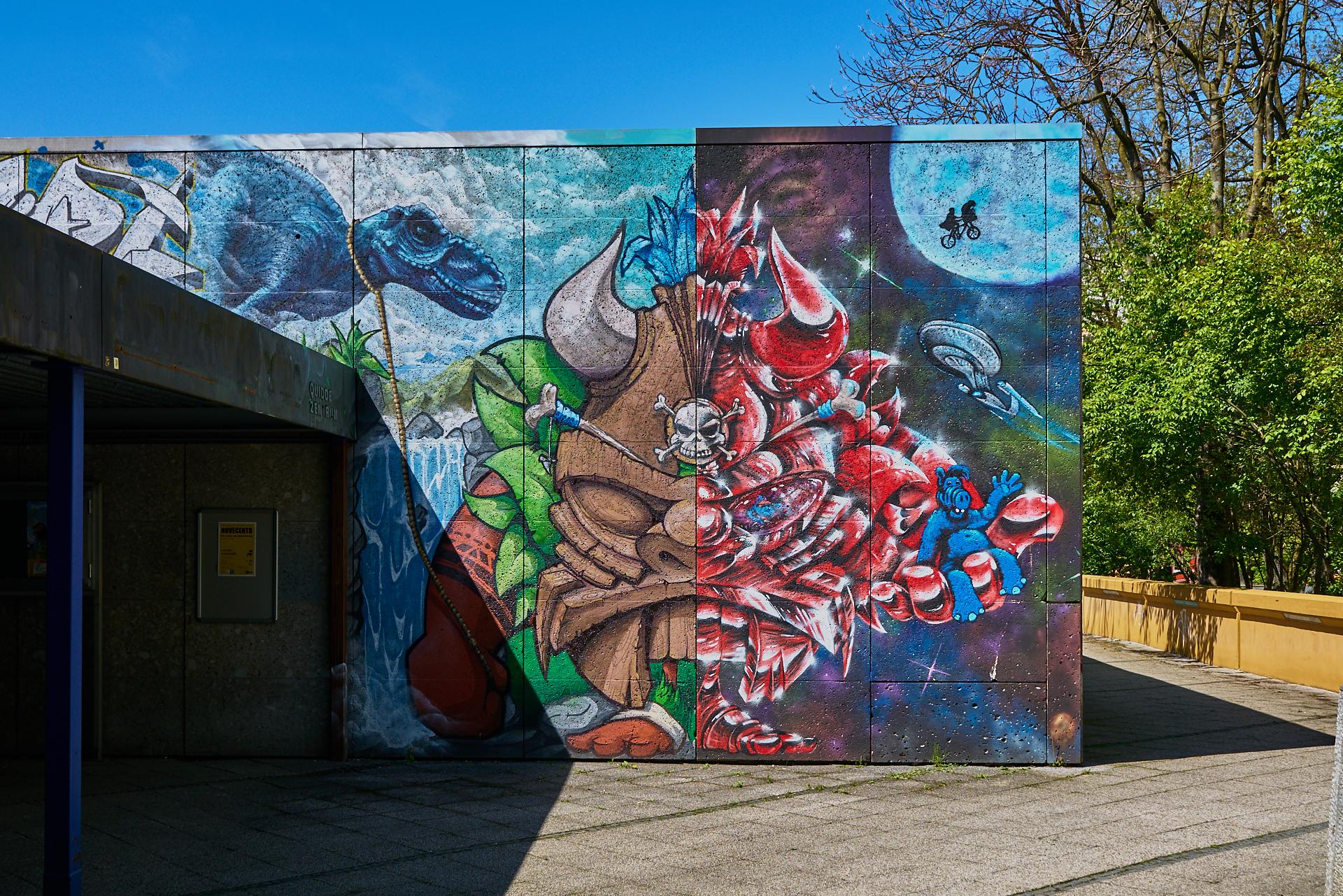Einmalige Graffitis im Quiddezentrum