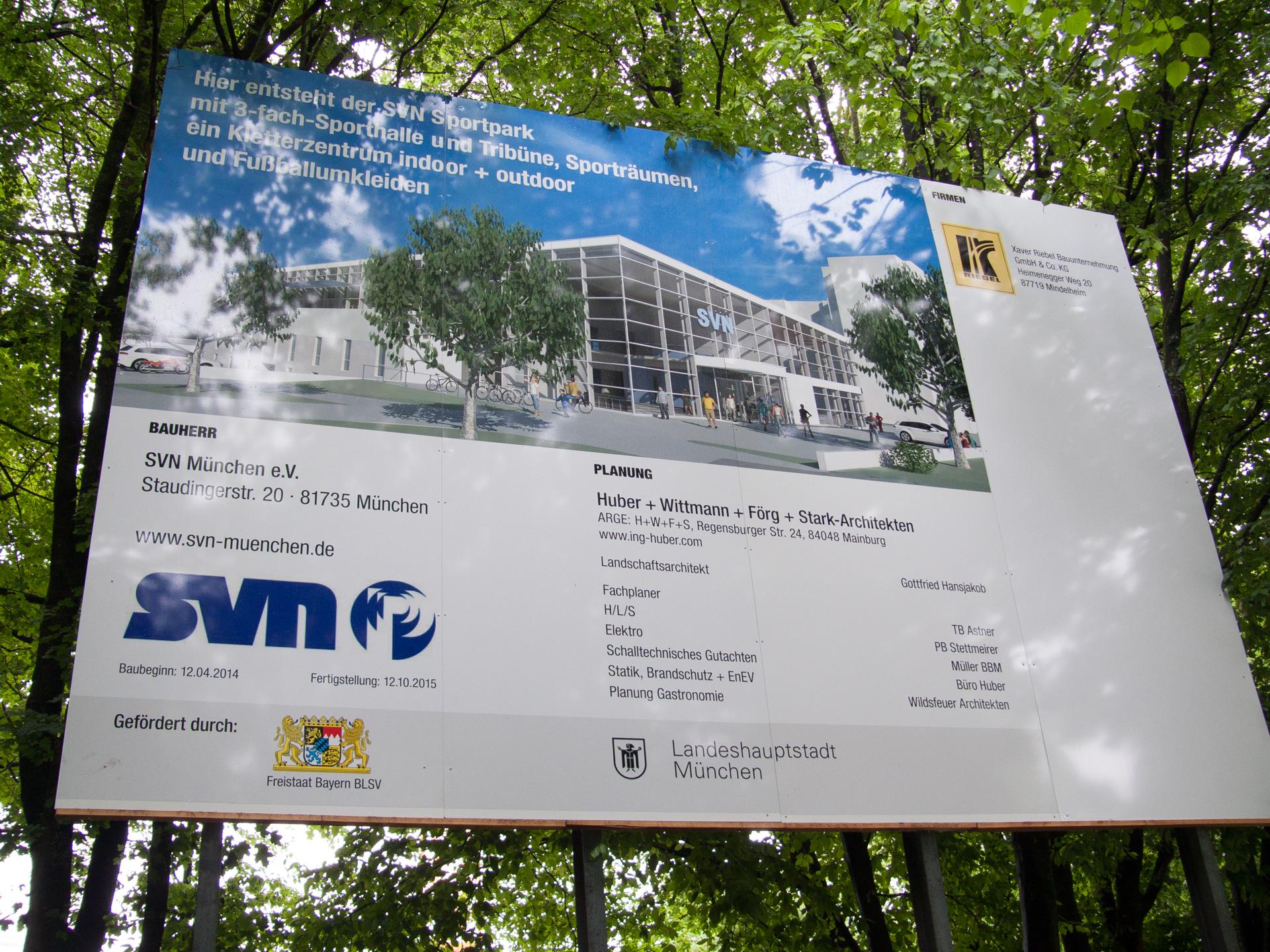 Neubau der SVN-Sportanlage